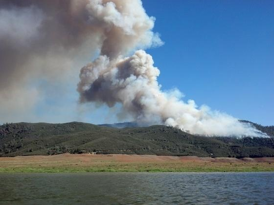Mariposa County Hunters Valley Fire Plume